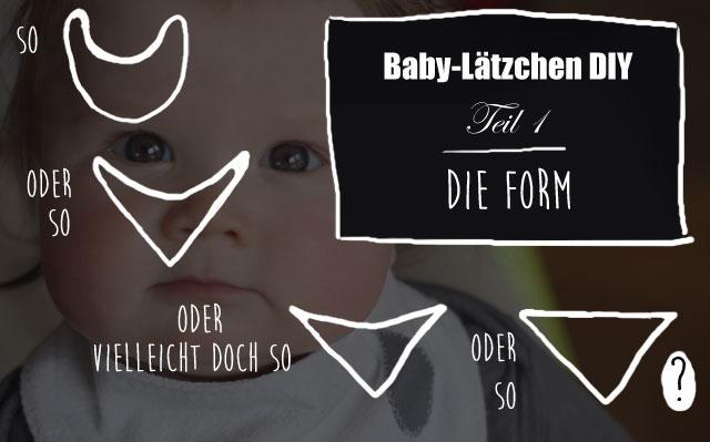 Lätzchen-DIY Teil 1: Schnittmuster erstellen - Kindertage