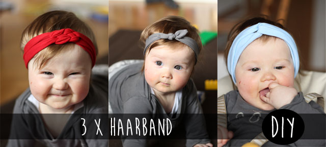 3 x Haarband - DIY - Kindertage