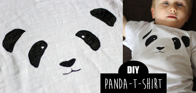 panda print t shirt diy kindertage. Black Bedroom Furniture Sets. Home Design Ideas