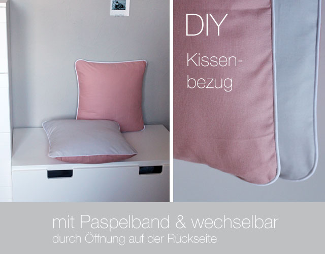 diy abnehmbaren kissenbezug mit paspelband n hen kindertage. Black Bedroom Furniture Sets. Home Design Ideas