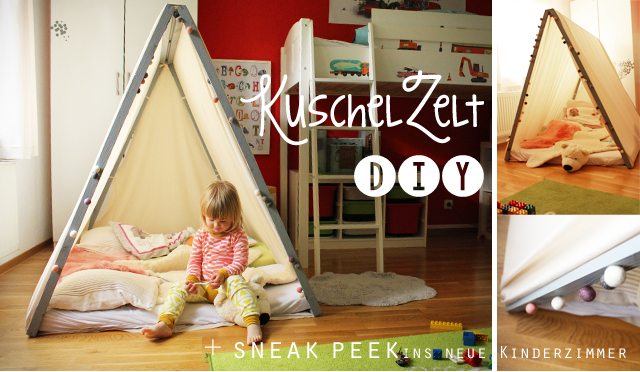 wir sind dann mal im zelt diy f r s kinderzimmer. Black Bedroom Furniture Sets. Home Design Ideas